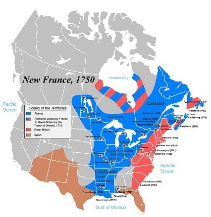 Thanks To New France And For The United States Jefferson S 1803 Louisiana Purchase Which Represents 23 Of The Current U S Territory Many Cities In The